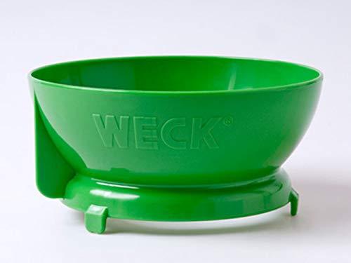Weck Einfülltrichter aus Kunststoff, Grün, passend für alle Gläser mit 10cm Durchmesser