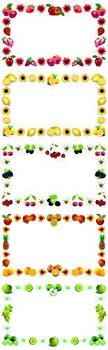 250 Einmachetiketten 'Süße Früchte'