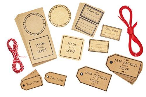 Kitchen Craft Home Made Gift Tags und Etiketten-Set (122Stück)